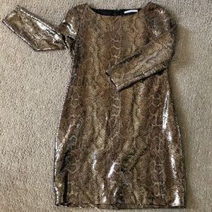 Worn once! Tahari sequence dress (8P)